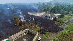 Lavastrom im Vorort Buhene
