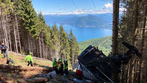 Am Pfingstsonntag stürzte eine Gondel am Monte Mottarone westlich des Lago Maggiore in die Tiefe und riss 14 Menschen in den Tod