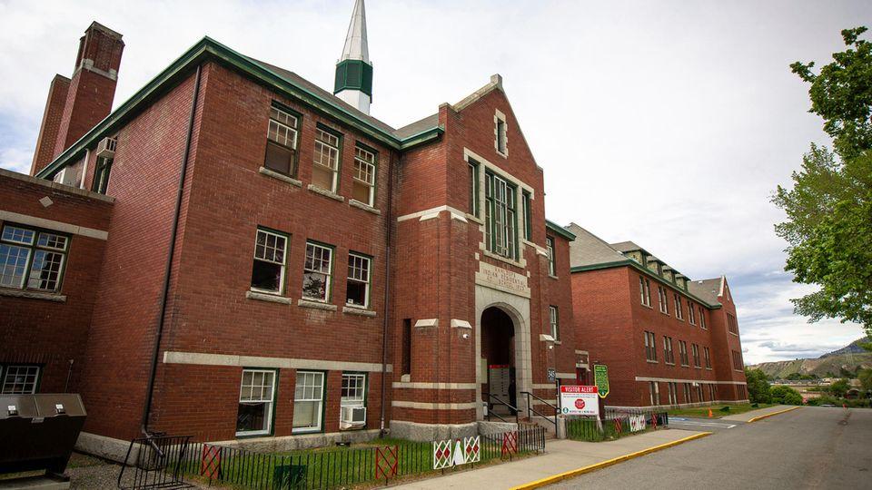 Die ehemalige Kamloops Indian Residential School.