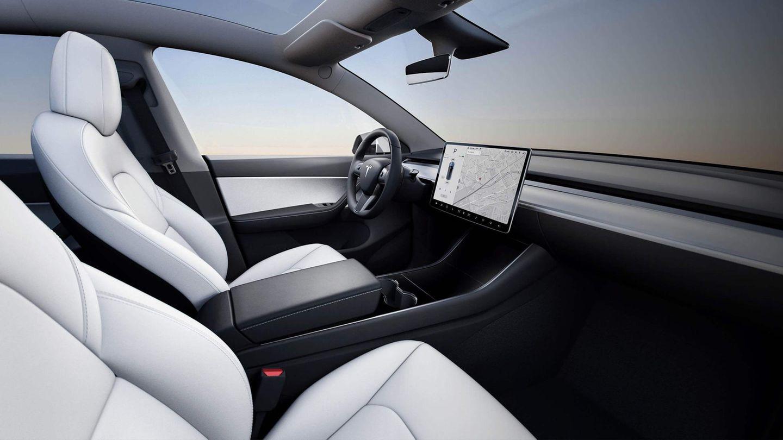 Innenansicht des Tesla Model Y.