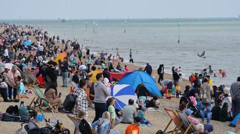 Voller Strand in Southend