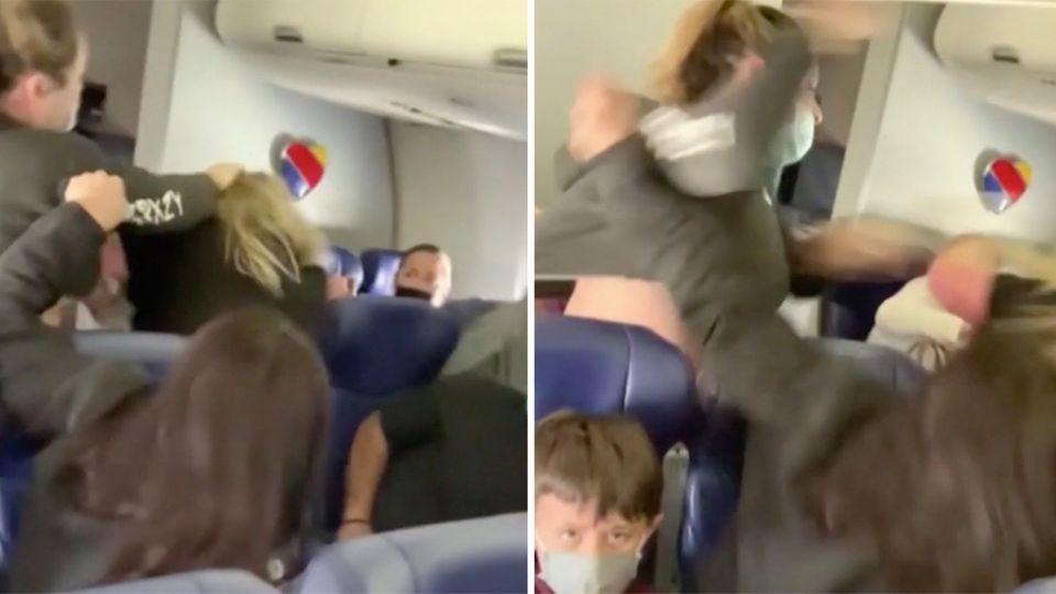 USA: An Bord von American Airlines: Frau wird nach einem psychischen Anfall mit Klebeband gefesselt