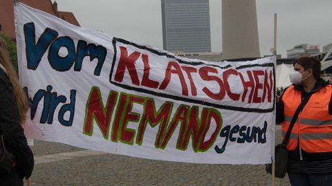 Demonstration für die Pflegereform in Berlin