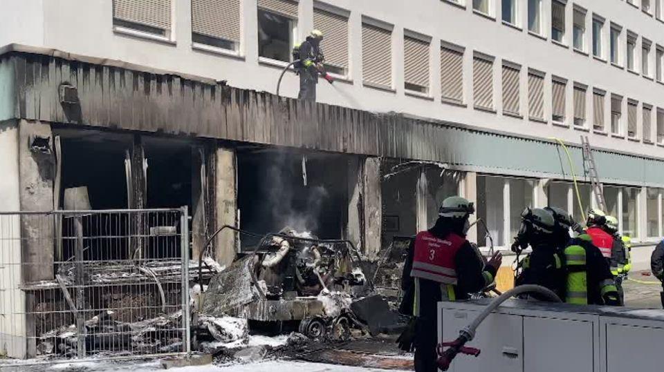 Explosionen in Nürnberg: Tagesklinik geräumt