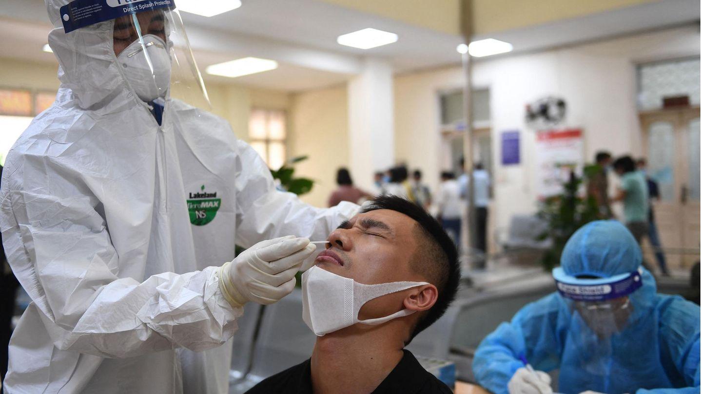Coronavariante Vietnam: Test auf das Coronavirus