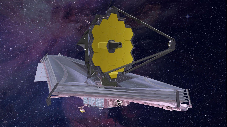 Eine künstlerische Darstellung desJames-Webb-Weltraumteleskops