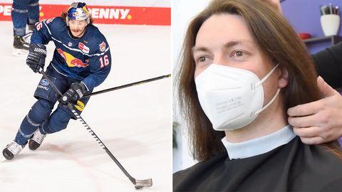 Deutscher Eishockey-Profi Konrad Abeltshauser spendet Mähne für junge Krebspatienten