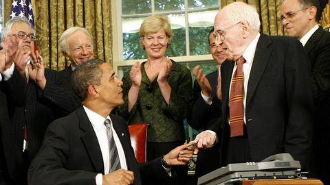 Frank Kameny mit Barack Obama