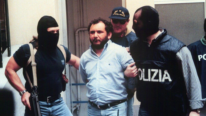 Giovanni Brusca bei seiner Festnahme im Jahr 1996