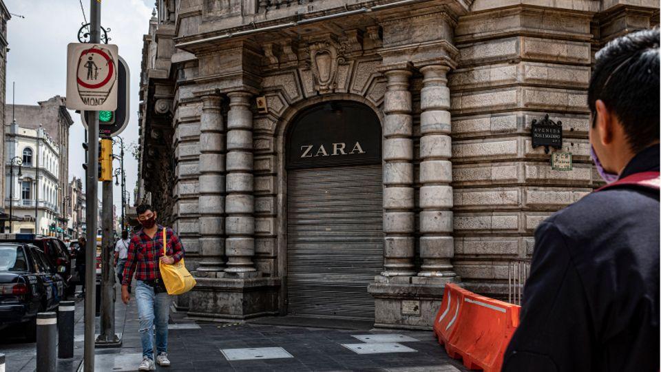Eine während der Pandemie geschlossene Zara-Filiale in Mexiko-Stadt