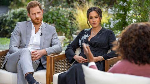 Prinz Harry und Herzogin Meghan bei ihrem Interview mit Oprah Winfrey