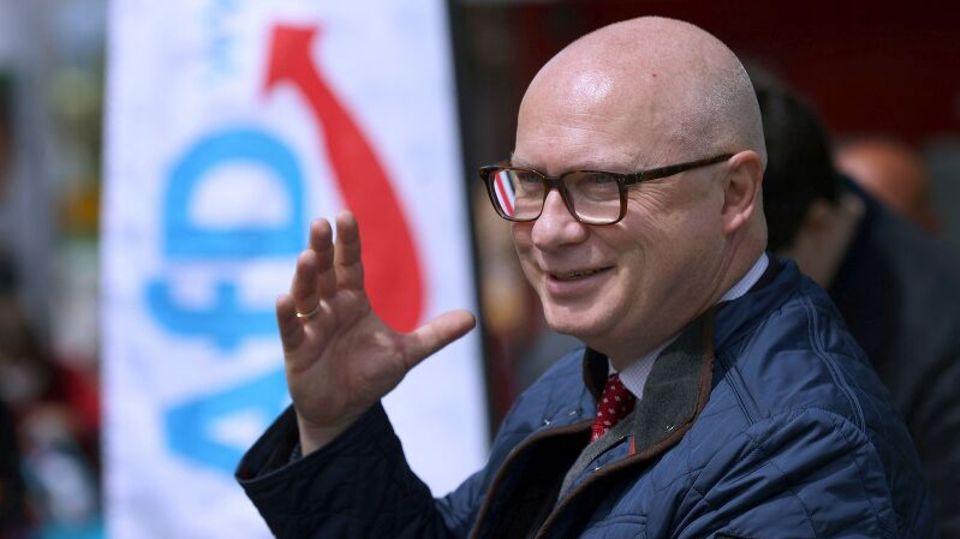 Oliver Kirchner bei einer Wahlveranstaltung der AfD.