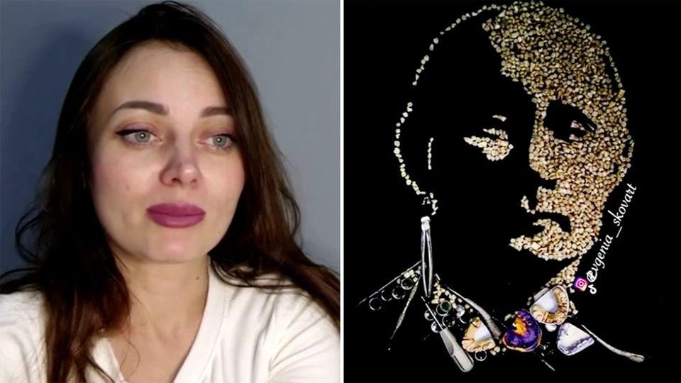 So zeigte eine Künstlerin Putin die Zähne