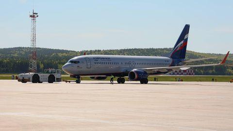 Maschine der russischen Fluggesellschaft Aeroflot