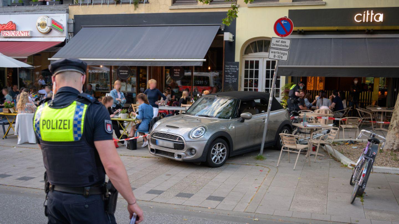 Der Unfallort an der Osterstraße in Hamburg.