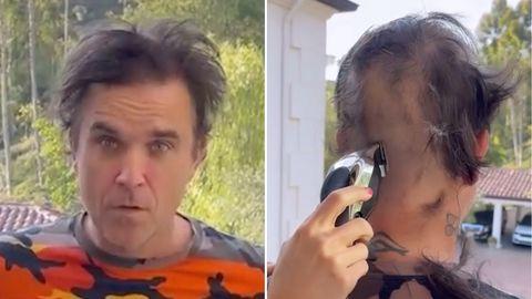 Robbie Williams lässt sich eine Glatze schneiden