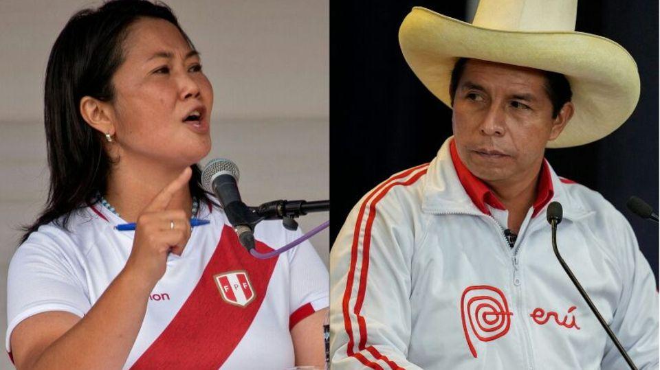 Pedro Castillo und Keiko Fujiomori
