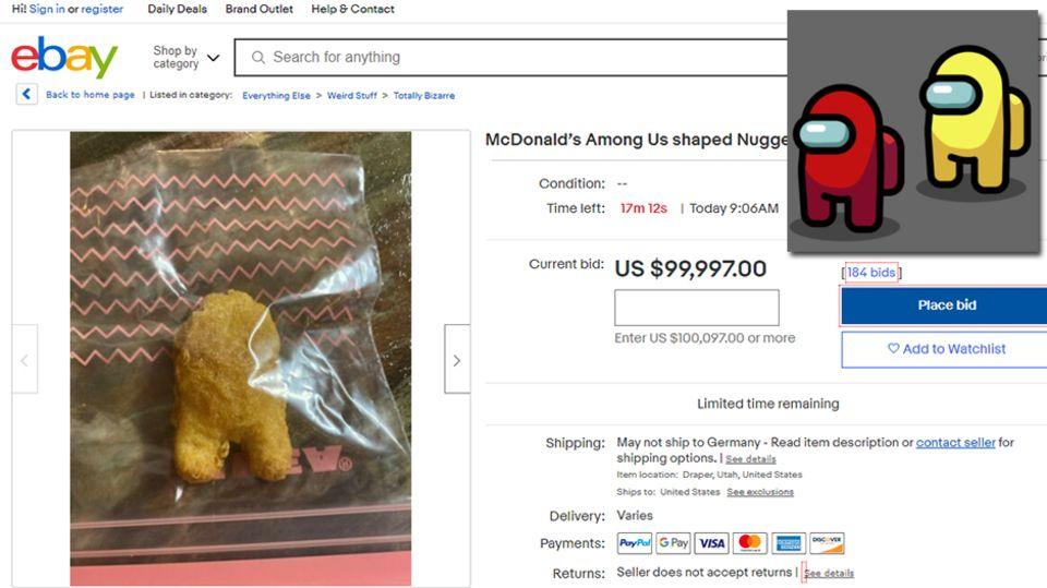 Ebay Nugget Among us Männchen