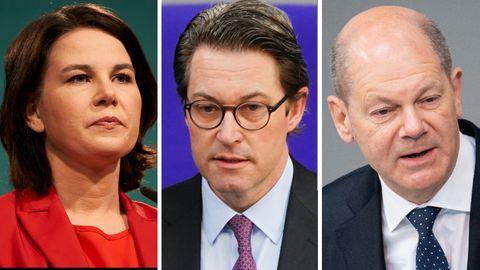 Benzinpreis-Debatte: Annalena Baerbock, Andreas Scheuer, Olaf Scholz