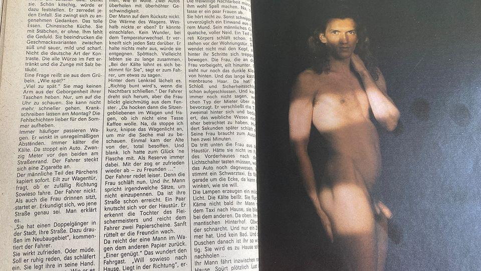 """Aktfotografien von Frauen und Männern im DDR-Journal """"Das Magazin""""."""