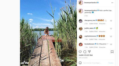 Vip-News: Lena Meyer-Landrut im Bikini am See