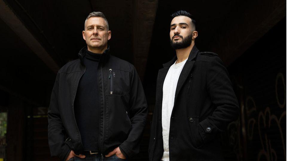 """Die Macher des Podcast """"Clanland"""" Mohamed Chahrour und Marcus Staiger"""
