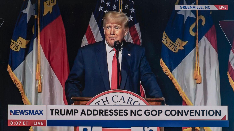 Donald Trump beim Parteitag der US-Republikaner in Greenville