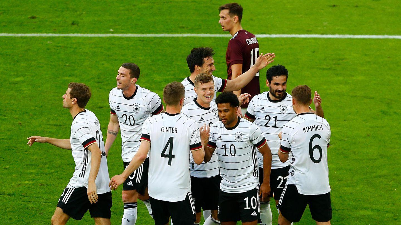 Die deutsche Elf war in Spiel- und Torlaune gegen Lettland