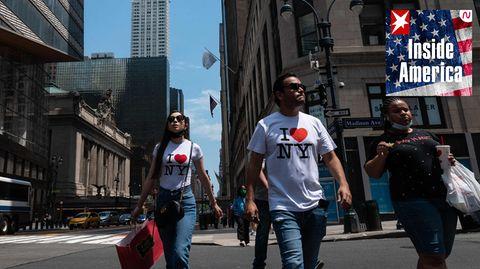 """""""Ich liebe New York"""": Die Madison Avenue im Zentrum von Manhattan"""