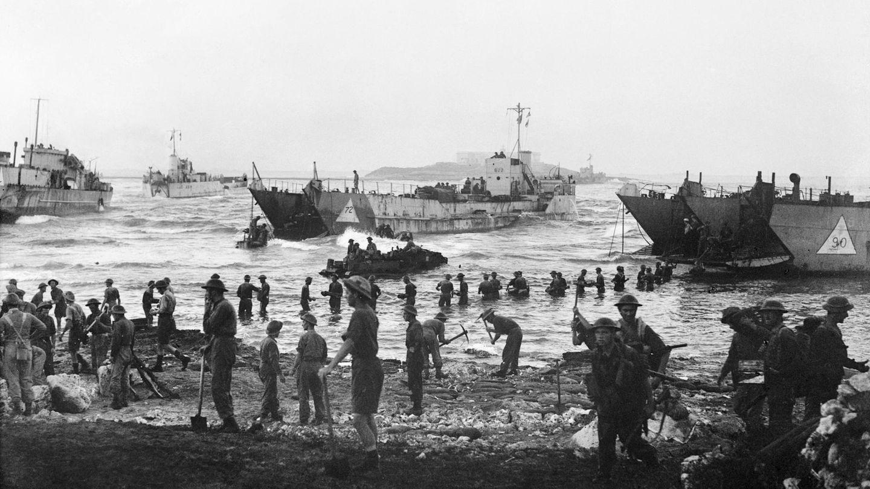 Nach der Landung in Sizilien wurden die Commandos neben der Infanterie eingesetzt.