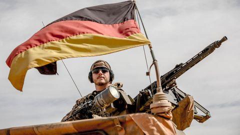 Eine Patroullie der Bundeswehr in Mali