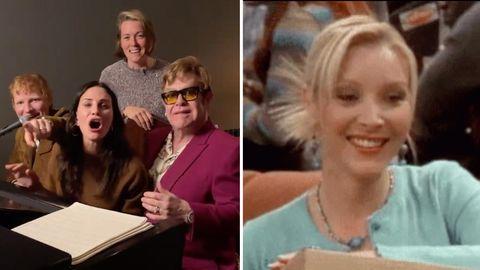 Ed Sheeran, Courteney Cox und Elton John performen Song für Lisa Kudrow