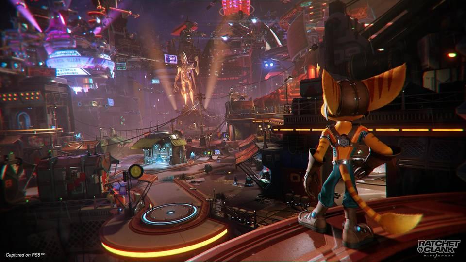 """Die ausladenden Level in """"Ratchet & Clank: Rift Apart"""" sehen bombastisch aus"""