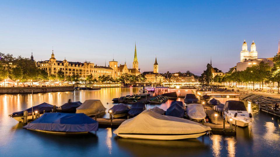 Platz 7mit92,8Punkten:Zürich, Schweiz  Nur einen Hauch besser schneidet die größte Stadt der Schweiz in der Bewertung ab. Zürich konnte vor allem bei dem breiterenkulturellen Angebot punkten.