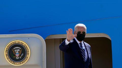 Joe Biden vor Abflug nach Europa