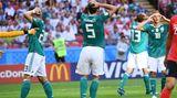 Gomez, Hummels, Müller und Kimmich fassen sich im Spiel gegen Südkorea an den Kopf