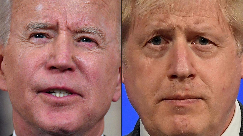 Joe Biden, links, und Boris Johnson in einer Bild-Kombo