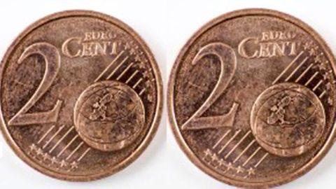 Zwei 2 Cent Münzen