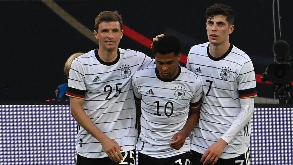Die deutsche Nationalmannschaft bei der Europameisterschaft 2021.