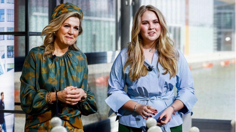 Königin Maxima und ihre Tochter, Kronprinzessin Amalia der Niederlande