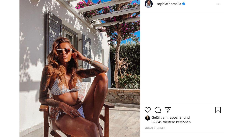 Sophia Thomalla war für Dreharbeiten auf Paros