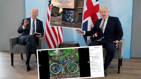 US-Präsident Joe Biden und Großbritanniens Premierminister Boris Johnson