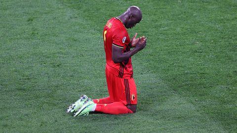 Romelu Lukaku beim Spiel Belgien gegen Russland