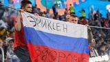 Auch russische Fans zeigten im Stadion von St. Petersburg ihr Mitgefühl und wünschten EriksenGesundheit