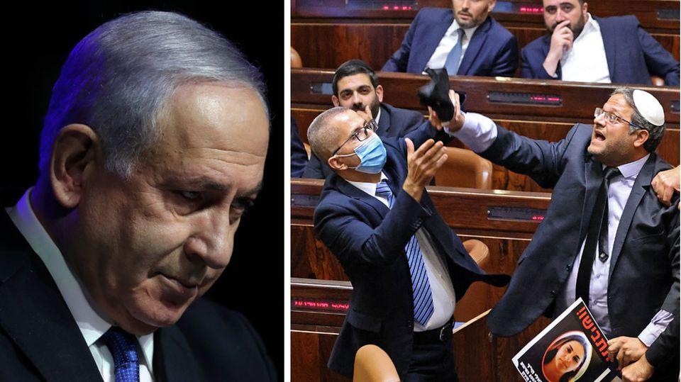 Benjamin Netanjahu tritt ab, im israelischen Parlament Knesset gab es Tumulte