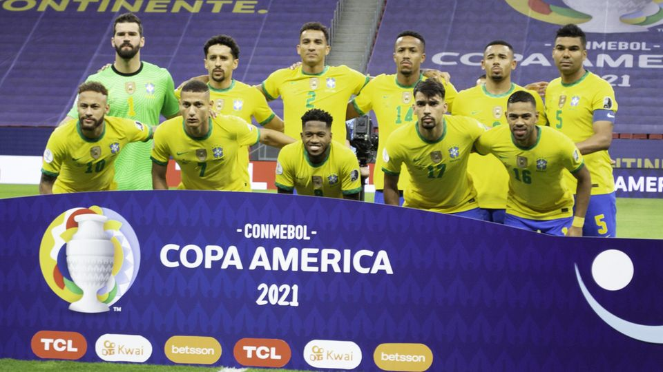 The Brazilian national team at the Copa America