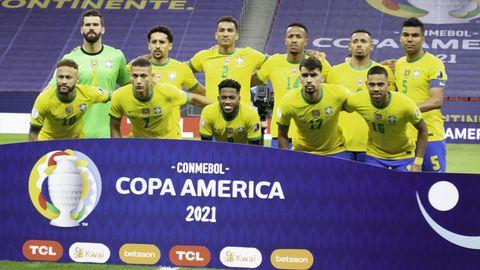 Die brasilianische Nationalmannschaft bei der Copa America
