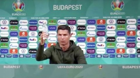 EM 2021: Cristiano Ronaldo schiebt Softdrinks weg – droht Sponsoren-Ärger?