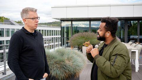 Frank Thelen (l) und Orry Mittenmayer im Gespräch