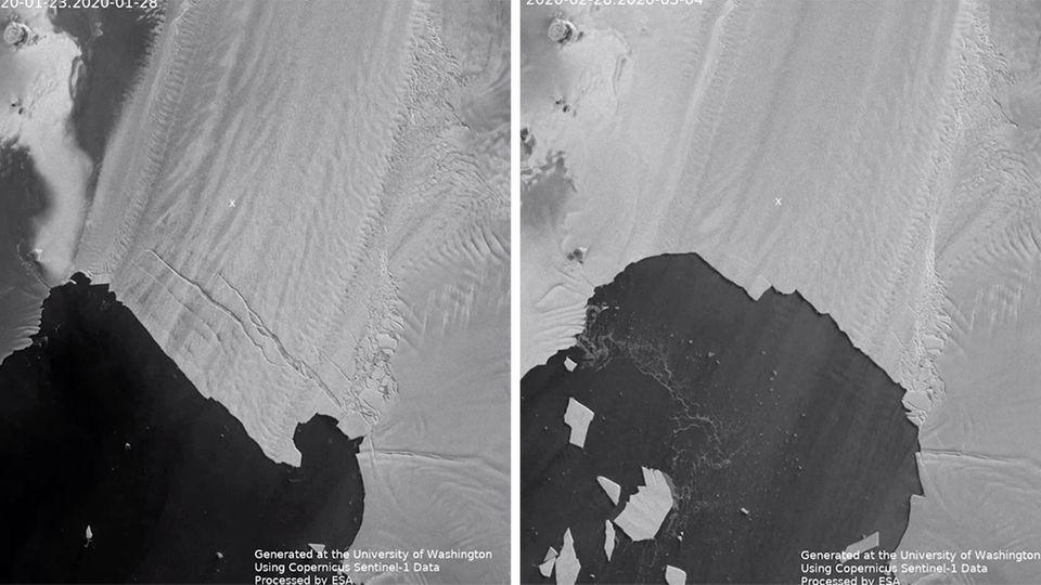Eisschelf in der Antarktis schmilzt schneller als Forscher bisher annahmen